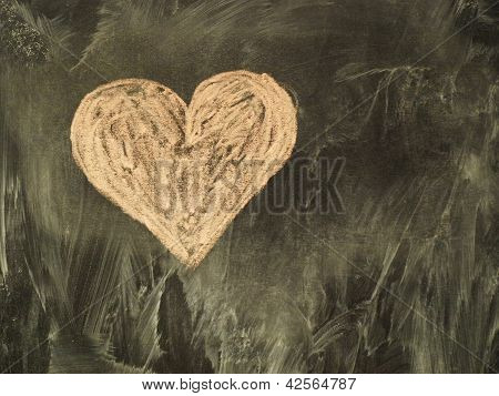 Heart on the classboard