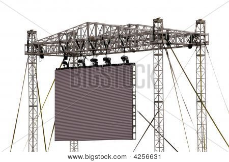 Gigantic Outdoor Screen Isolated