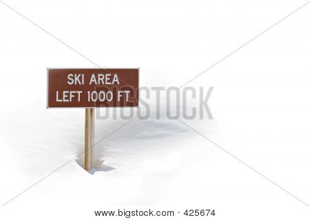 Ski Area Sign In Snow