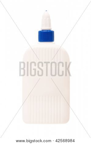 White glue bottle, isolated on white background