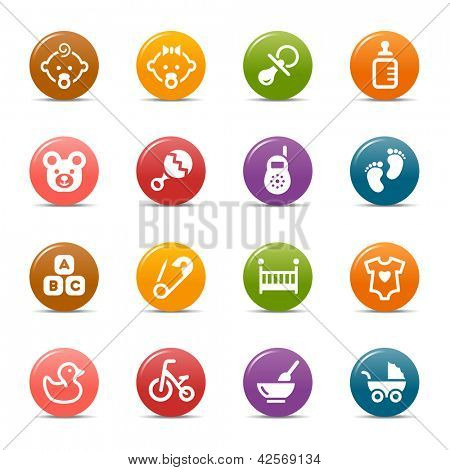 Colored Dots - Baby icons