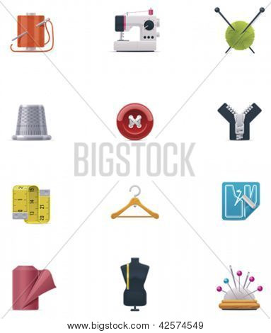 Vector sewing icon set