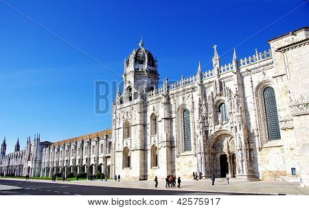 Jeronimos Old  Monastery In Lisbon, Portugal