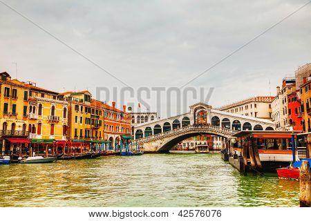 Rialto Bridge (ponte Di Rialto) On A Sunny Day