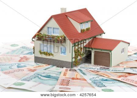 Miniature House And Money