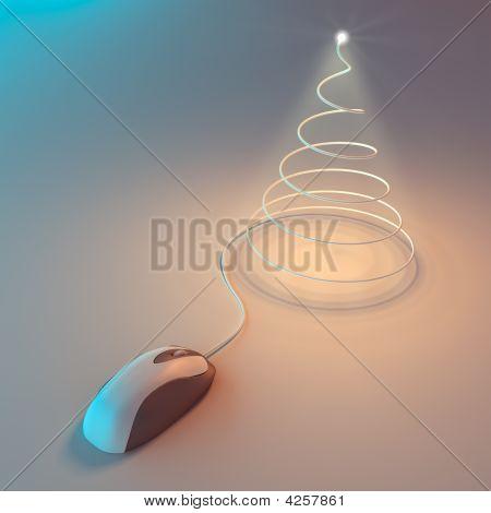 Computer Christmas tree