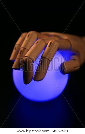 Wooden Mannequin Hand, Ball Of Light, Fortune Teller