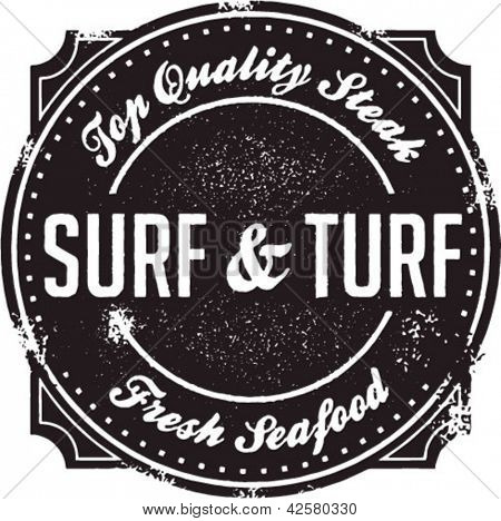 Surf and Turf Fine Dining Stamp