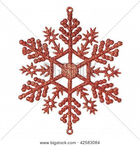 Christmas Decorative Snowflake. On A White Background.