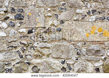 Pared de piedra antigua