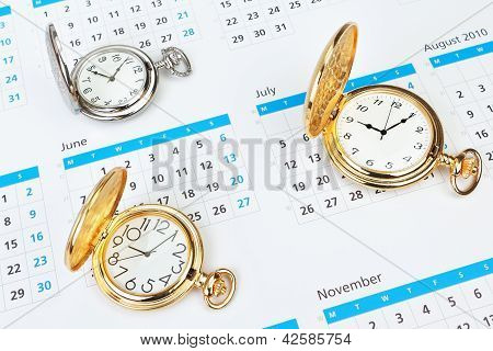 Group Vintage Mechanical Pocket Watch.