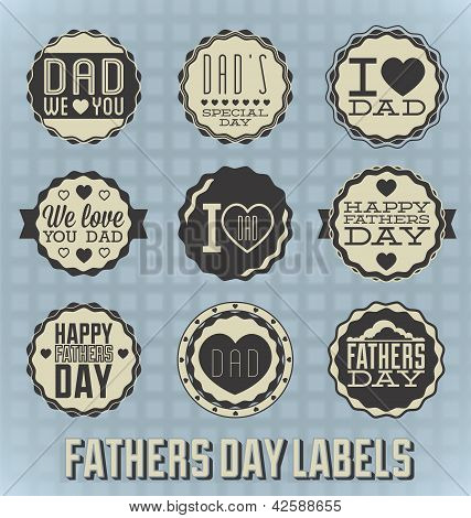 Happy Fathers Day Labels and Icons