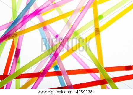 Straws In Random Abstract Shapes