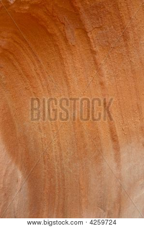 Wavy Texture Of Red Rocks