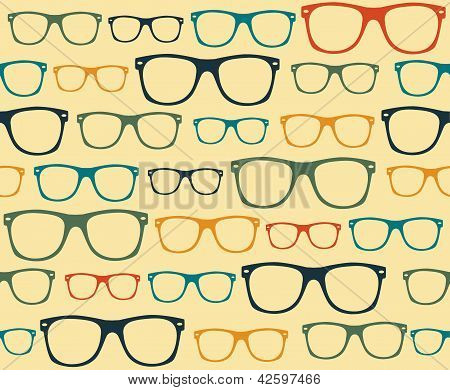 glasses Seamless pattern retro sunglasses vector background