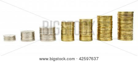 Diagram With Stacked Coins