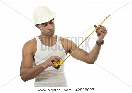 Attractive Hispanic African American Industrial Worker Man
