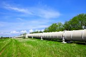 foto of gas-pipes  - Industrial pipe with gas - JPG