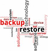 foto of differential  - A word cloud of backup restore related items - JPG