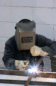 image of people welding  - welder worker welding metal - JPG