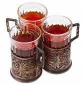picture of melchior  - three vintage glasses in nickel silver glass - JPG