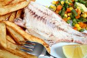 Grilled Red Snapper Fries And Veg poster