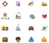 picture of fire insurance  - Vector insurance icon set - JPG