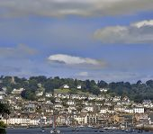 stock photo of dartmouth  - view from dartmouth castle of the estuary of the river dart devon