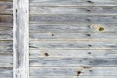 stock photo of woodgrain  - Rustic worn wood from an old warehouse - JPG