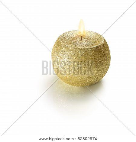 Golden Ball Candle