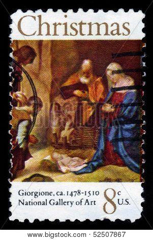 Adoration Of The Shepherds By Giorgione
