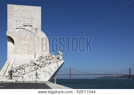 Monument For The Discoverers In Lisbon Portugal