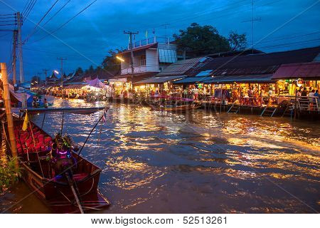 Ampahwa floating market