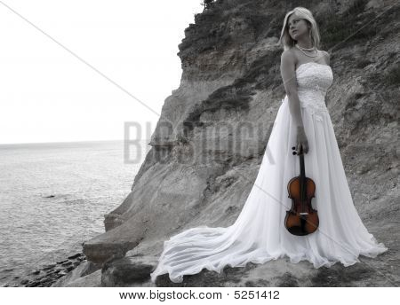 Bride With Violin