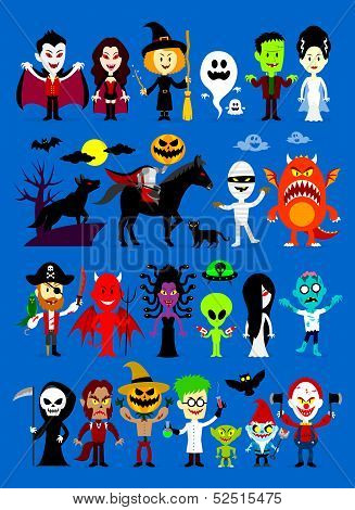 Monsters Mash Halloween Characters