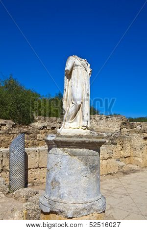 Ancient Roman sculpture at Salamis near Famagusta in North Cyprus.