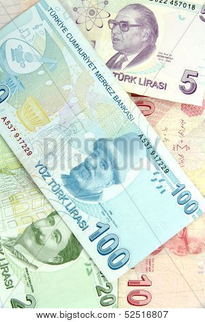 Turkish banknotes. Lira