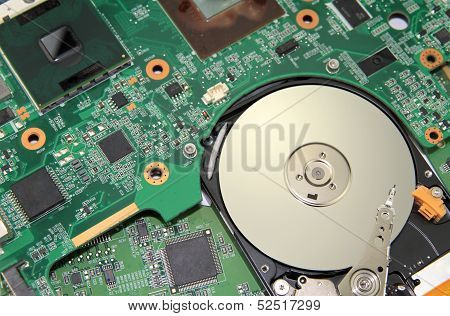 Electronic Circuit - PC Motherboard and harddisk