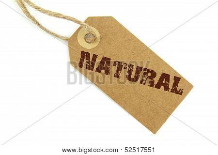 Brown natural label