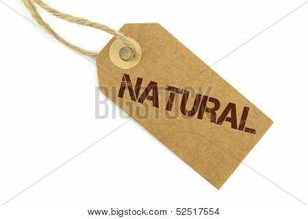 Natural Brown label