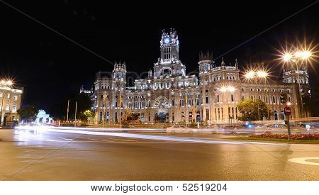 Cibeles Palace In Madrid.