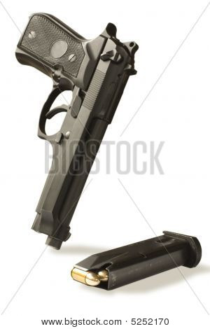 Handgun  And Magazine
