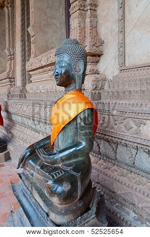 Buddha At Hor Phakao (haw Pha Kaew). Vientiane. Laos.