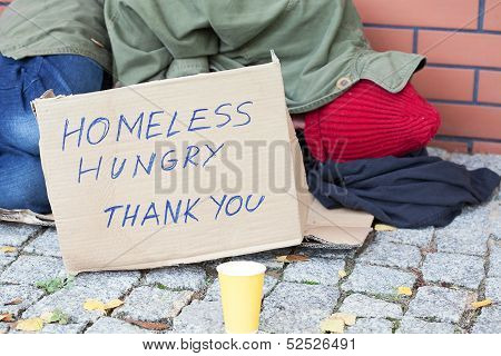 Homeless Hungry Poor Man