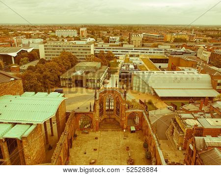 Retro Looking City Of Coventry
