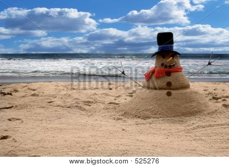 Sandman On The Beach For Family Portraits