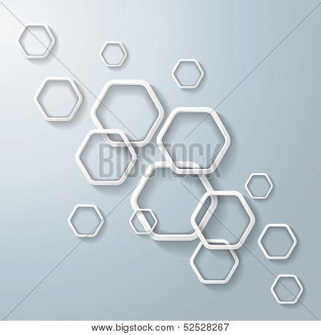 White Hexagon Rings Light Infographic