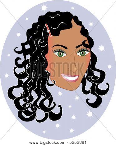 Curlyhair girl