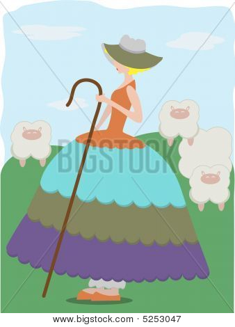 Little Bo Peep With Sheep