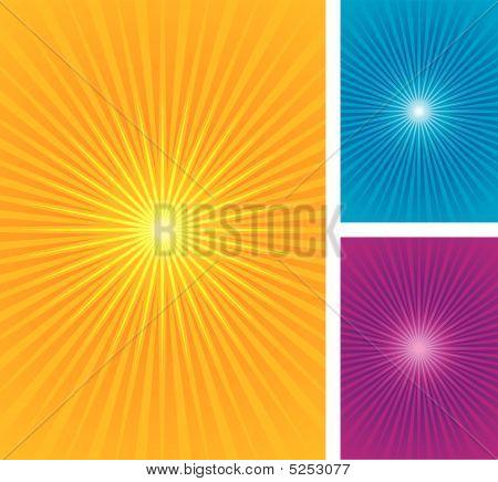 Starburst, fondo sunburst